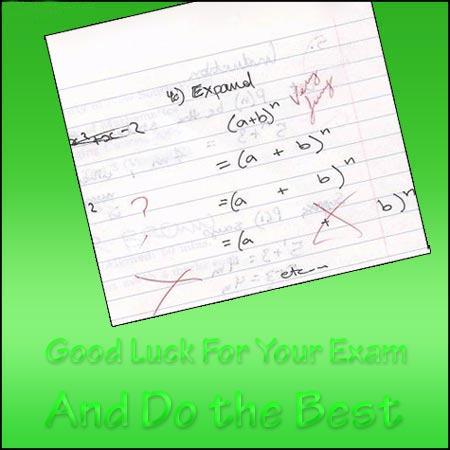 exam greetings
