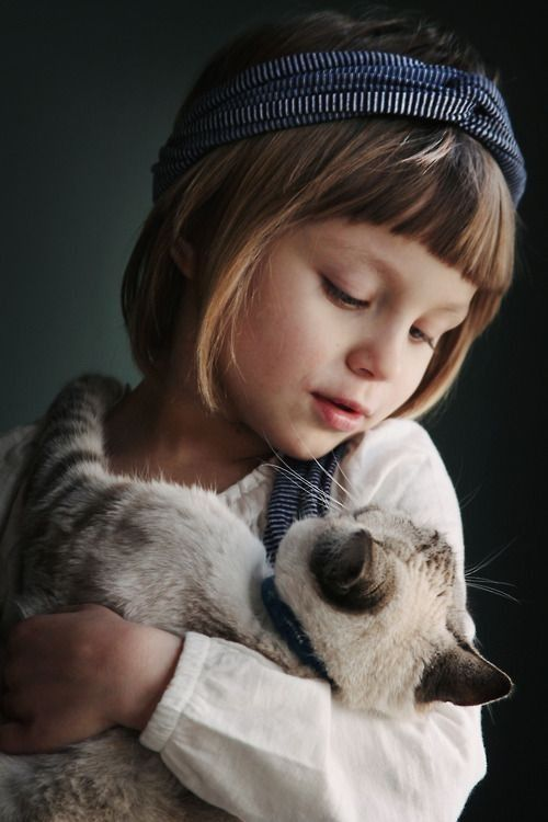 children with their pets