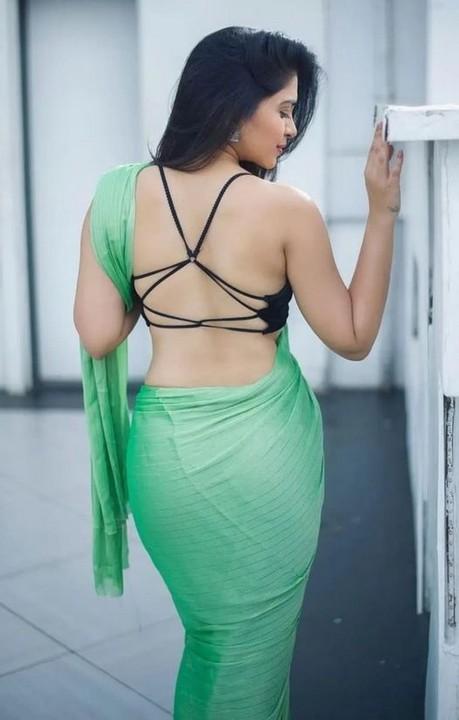 sexy backless saree