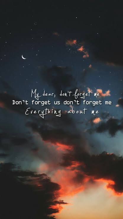 forget me
