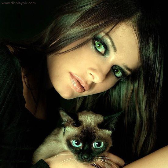 Girl with Cat profile pictures