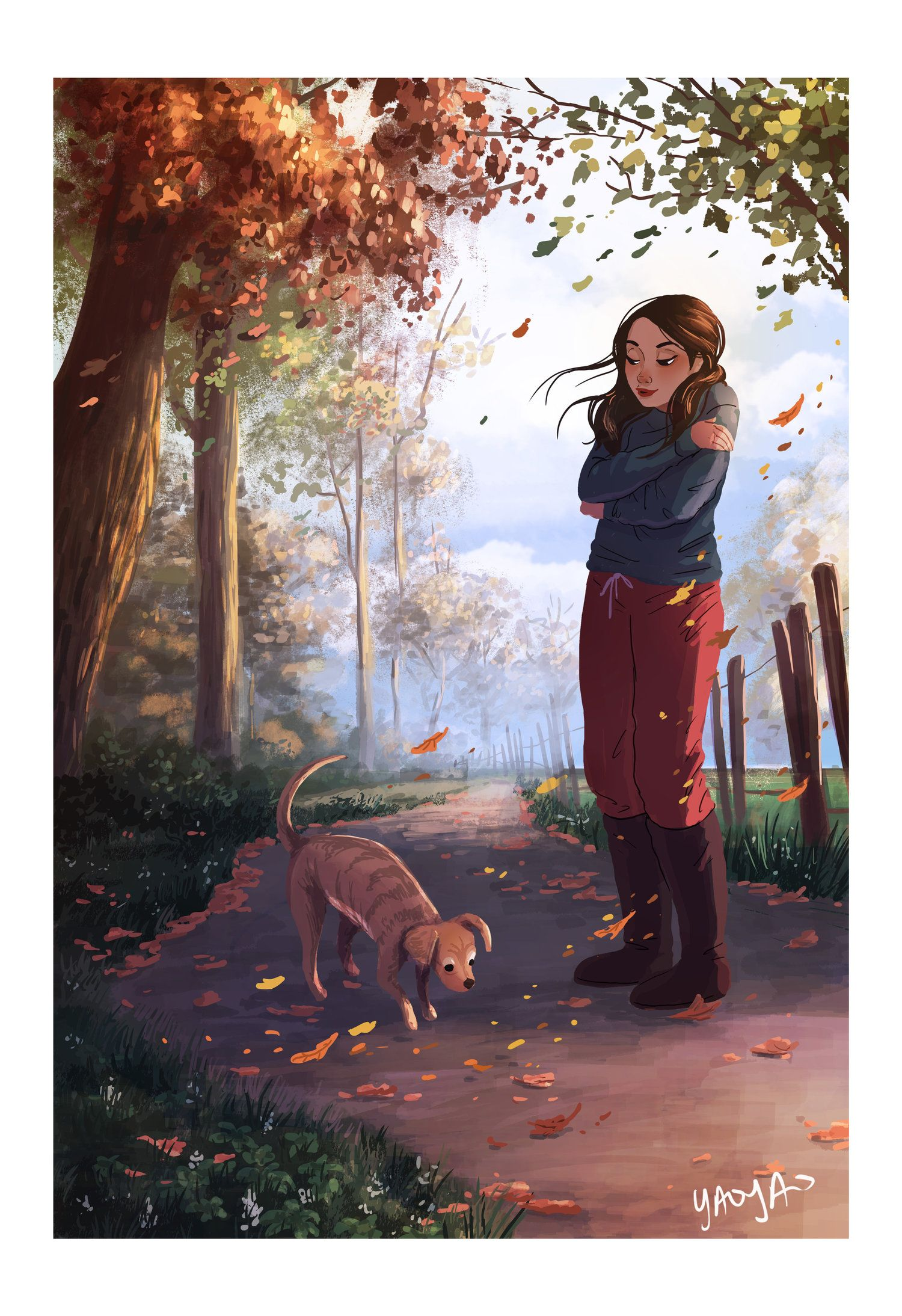 Girl with Dog profile pictures