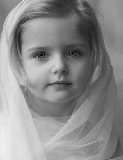 black and white profile picture