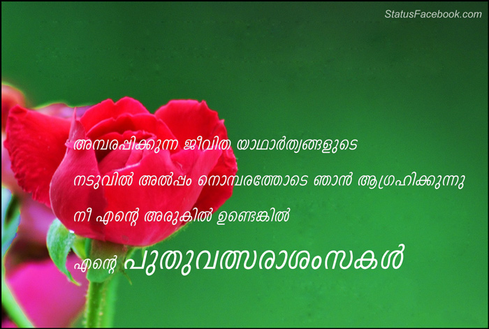 new year miss you malayalam status